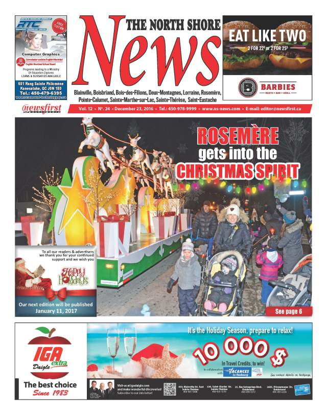 Front page image of the North Shore News Volume 12-24