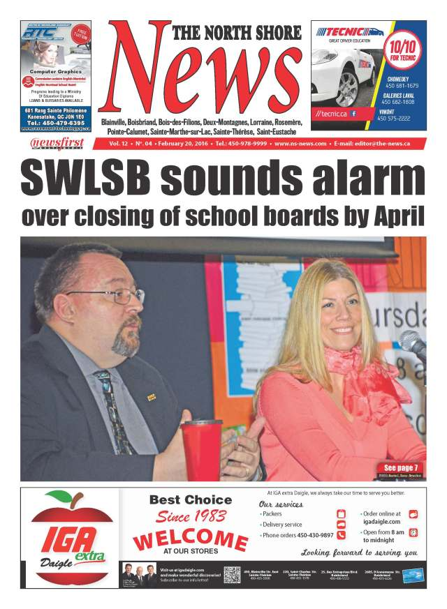 Front page image of the North Shore News Volume 12-4