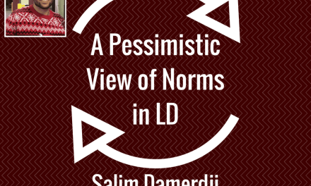 A Pessimistic View of Norms in LD by Salim Damerdji