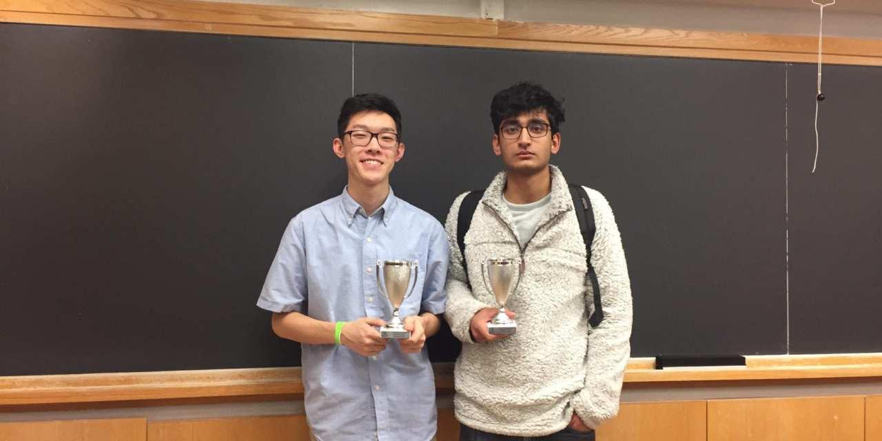 Stuyvesant's Kevin Li wins the Columbia University Invitational!