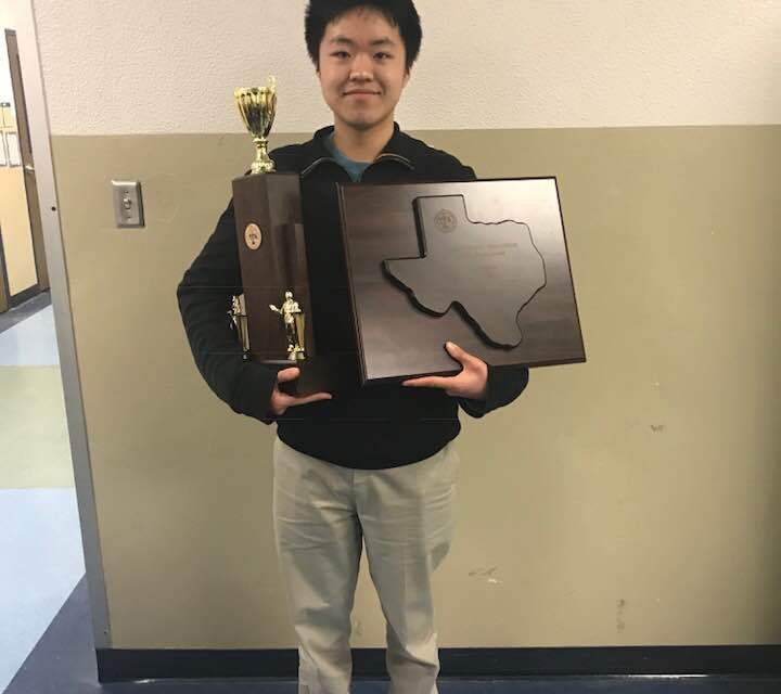 Strake Jesuit's Matthew Chen wins the 2018 Texas Forensic Association State Tournament