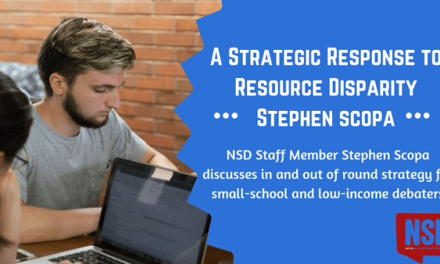 A Strategic Response to Resource Disparity- Stephen Scopa