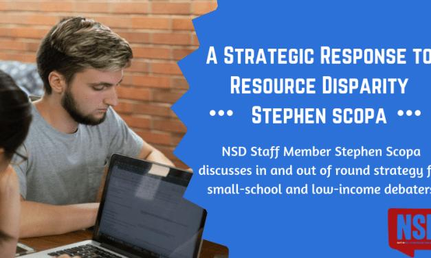 A Strategic Response to Resource Disparity- Stephen Scopa