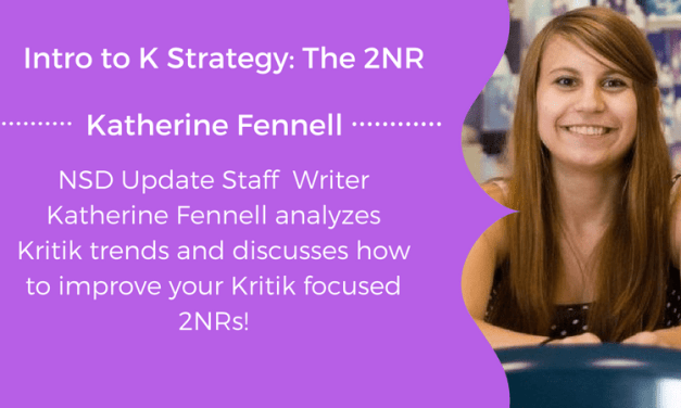 Intro to K Strategy: The 2NR