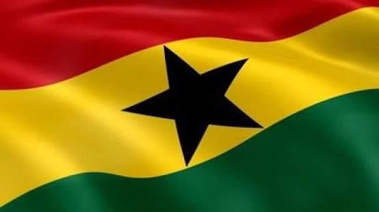 Waving Ghana flag