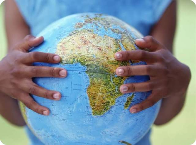 Africa in hand