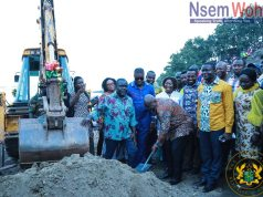 Nana addo cuts sod for moree mini harbour and fishing landing site