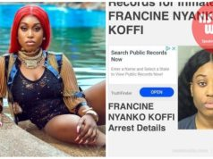 Fantana in a mugshot after theft in USA