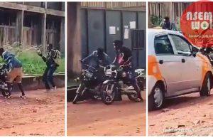 armed robbers attack motor rider at achimota ghana