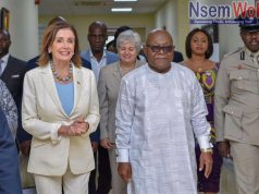 Speaker Nancy Pelosi Welcome by Mike Oquaye of Ghana Parliament