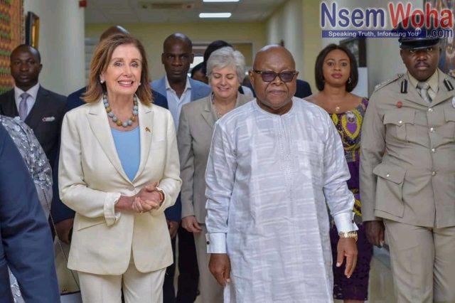Speaker Nancy Pelosi Welcome by Mike Oquaye of Ghana Parliament