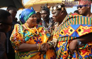 First lady Rebecca Akufo Addo crowned at Ada