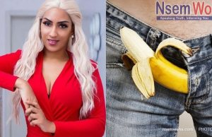 Juliet Ibrahim and banana in trouser