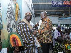 President Akufo-Addo and Bawku Naba meet at Bawku