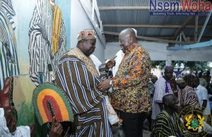 President Akufo-Addo and Bawku Naba meet at Bawku
