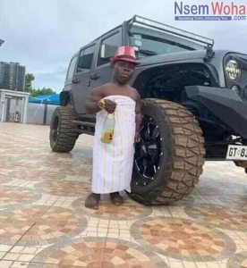 Shatta Bandle in his mansion