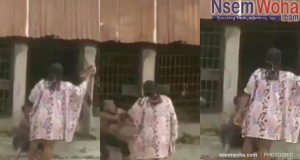 Woman beats step son and locks him up in dog cage