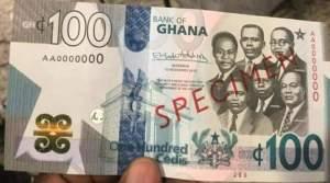 New Ghana cedi note GHC100