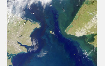 Bering Strait, NASA photo via National Science Foundation