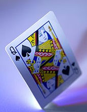 Image of a Queen of Spades card.