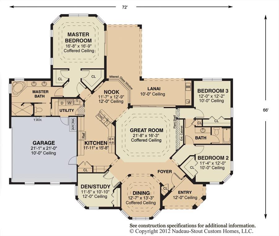 Madison Floor Plan  Nadeau Stout Custom Homes Ocala FL