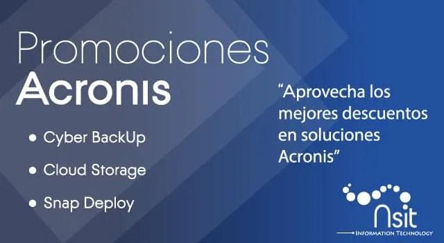 Promociones Acronis en nsit