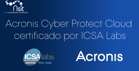 Acronis Cyber Protect Cloud Certificado por ICSA LABS - Nsit