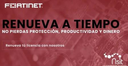 Renovación de licencias Fortinet nsit