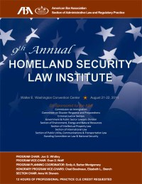 Homeland Security Law Institute 2014 Brochure Cover