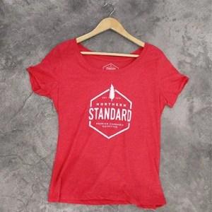 Red Northern Standard women's logo tee