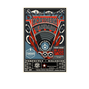 Vintage illustrated Northern Standard music concert poster