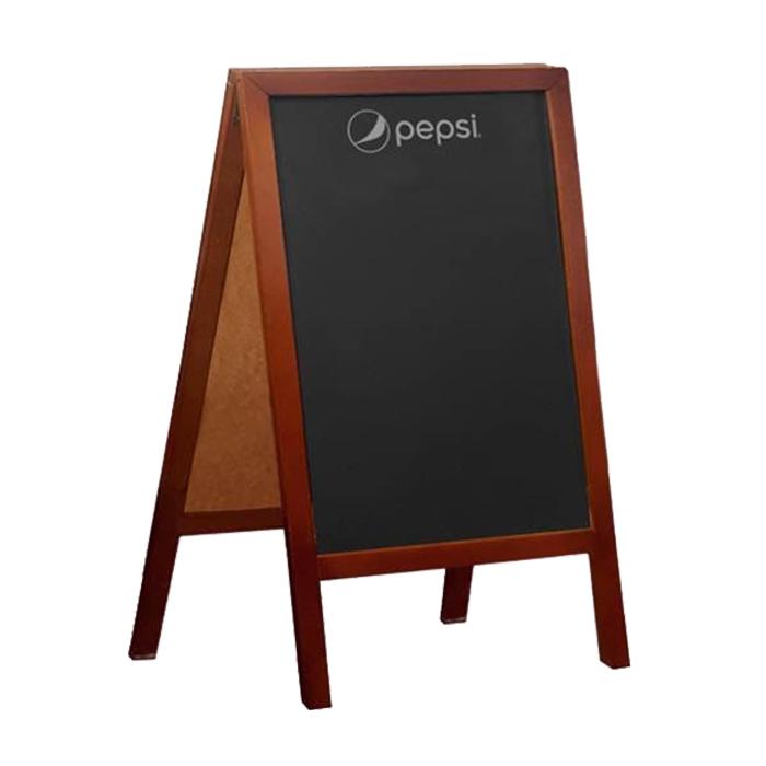 chalkboard a frame natural
