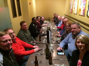 NSTA Spring Conference 2014: Friday eve meal