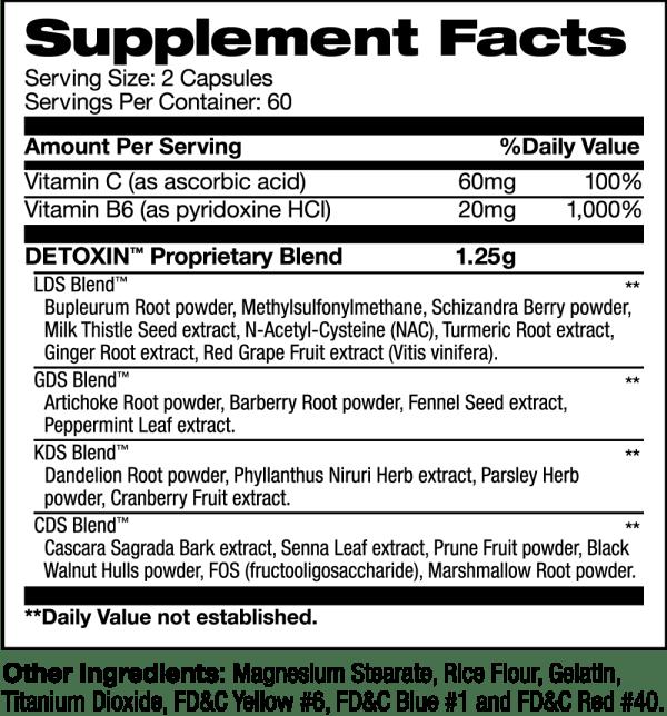 detoxin supplement facts