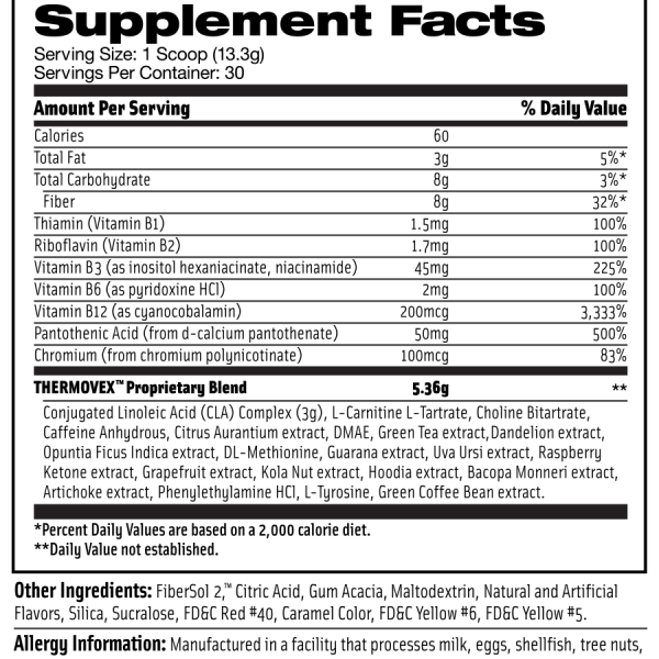 thermoves supplement facts