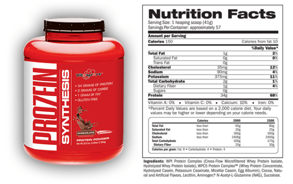 pro7ein synthesis supplement facts