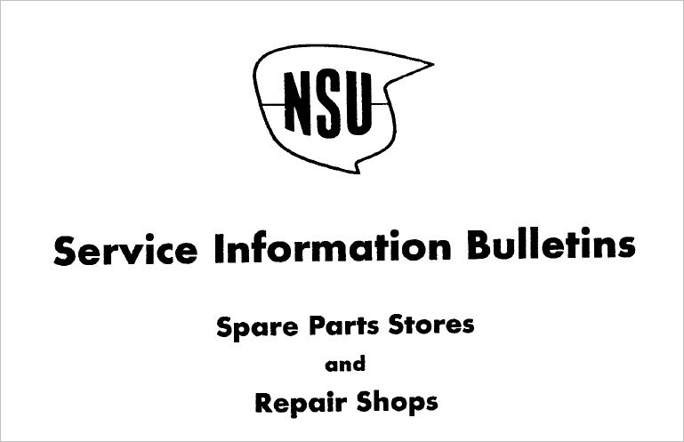 NSU Supermax Manuals