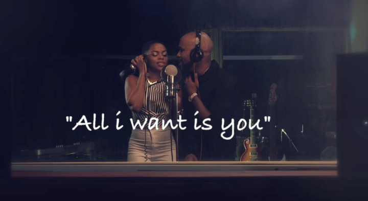 """Banky W and Chidinma in """"All I want is you"""" (Photo: Internet)"""