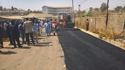 Image result for Zamfara governor  inspects projects,