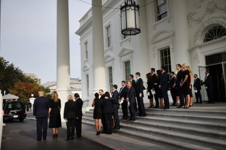 Funeral Held For President Trump's Brother Robert At The White House