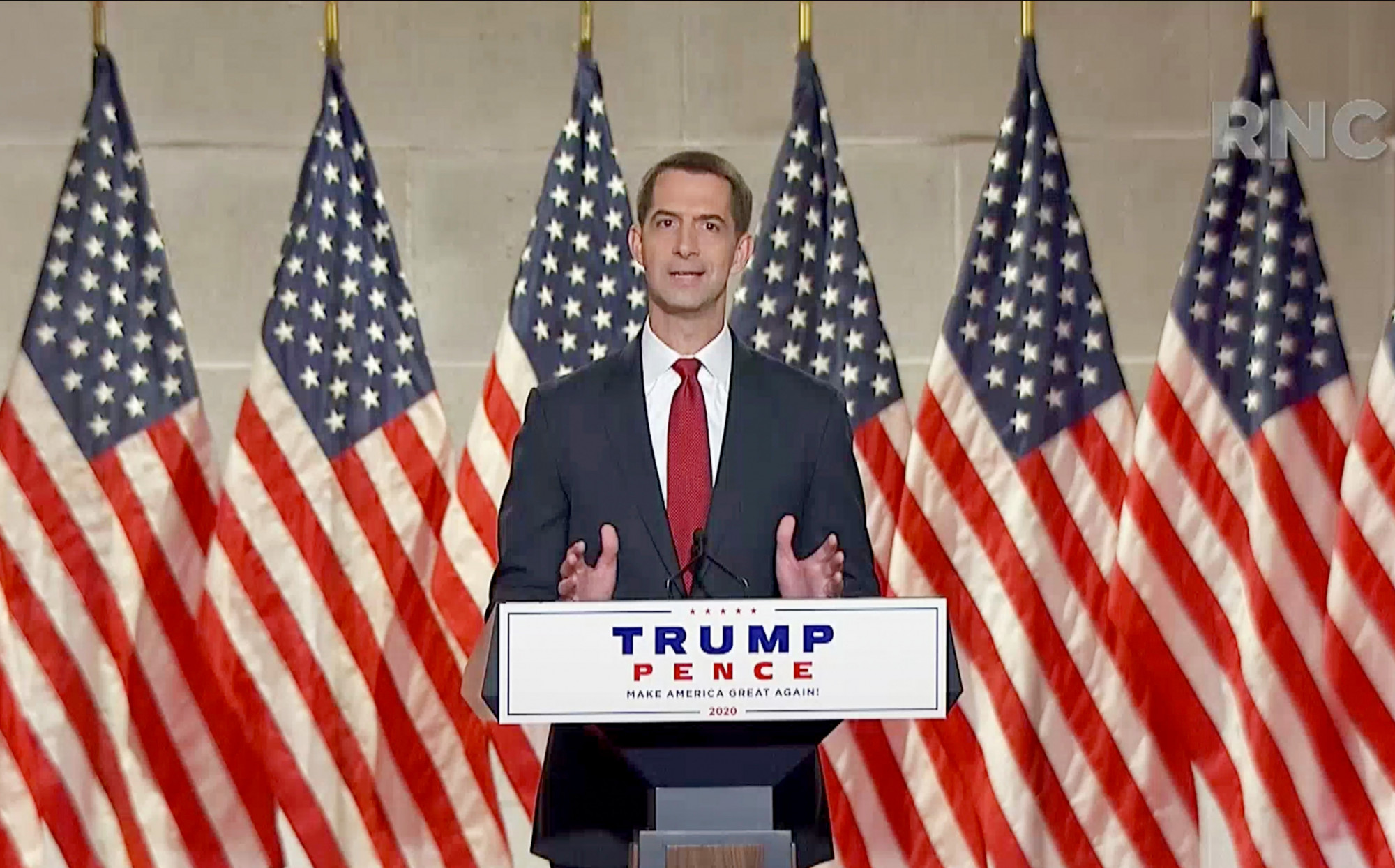 Sen. Tom Cotton Announces Bill to Strip China of 'Most Favored Nation' Status