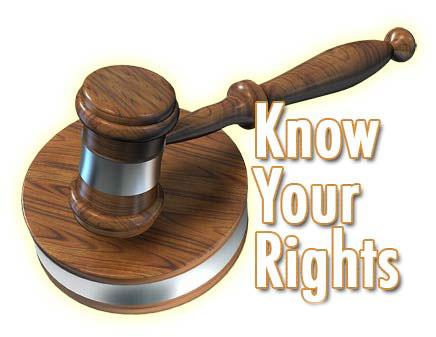 Image result for know your rights court