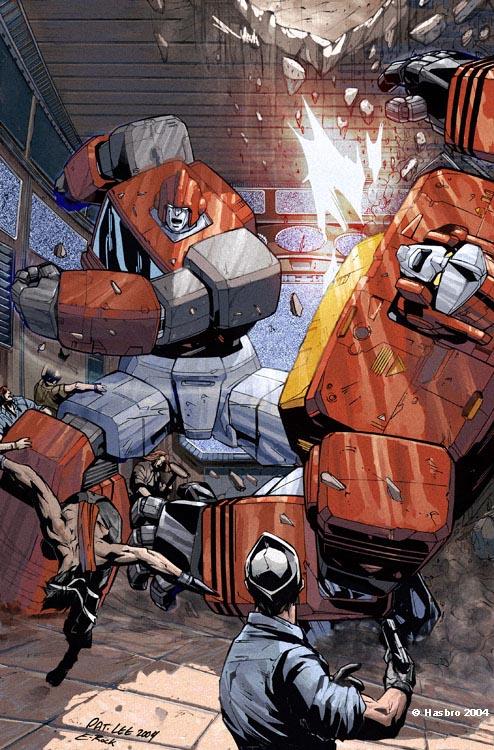 Dreamwaves Transformers comics  Transformers vs GI Joe Divided Front