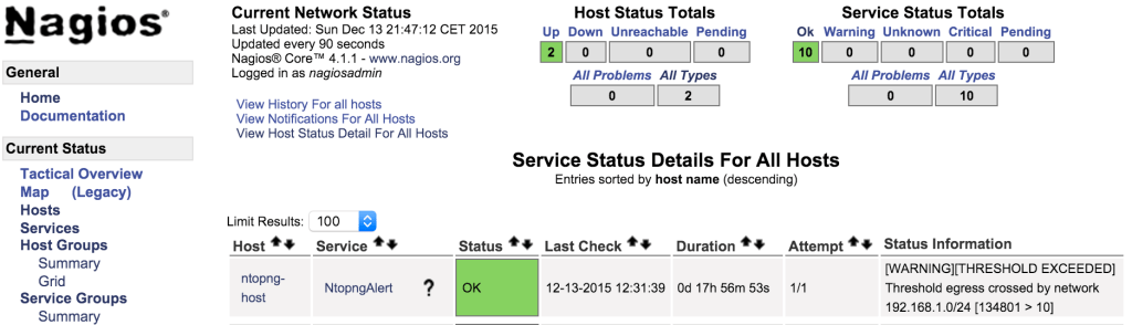 Ntopng Integration with Nagios – ntop