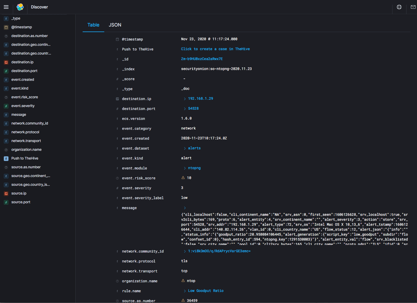 Using ntopng as network sensor for SecurityOnion (and integrated with Suricata)