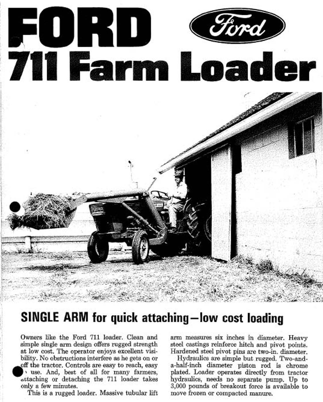 Ford 711 1-arm loader