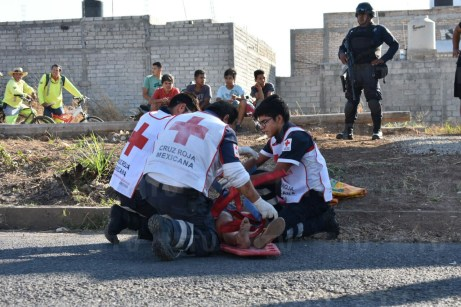 Fallece mujer tras accidente de motos en Tepic