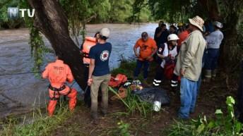 Rescatistas de Topos Azteca y Protección Civil Nayarit realizan labores de búsqueda y rescate a las orillas del río Ameca el pasado viernes 7 de septiembre (Foto: Archivo NTV)