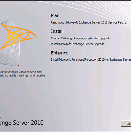 Question:How To Upgrade Exchange Server 2010 To SP1 Step By Step