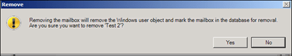 Question:How To Delete A User Mailbox Only In Exchange Server 2010 (5/6)